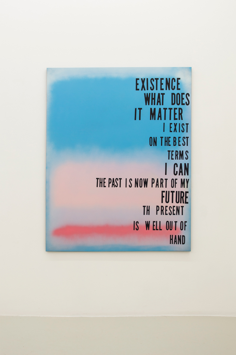 Heaven Can Wait,  2014, Spray on canvas, 153 x 122 cm
