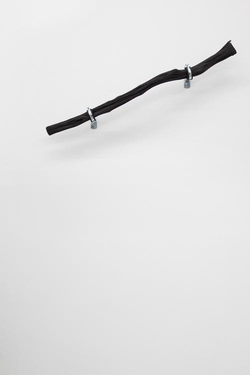 LINE_6 , 2014, 100 cm Binchōtan - white charcoal, water pipe mounts