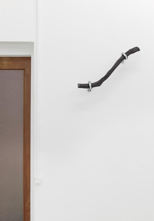 LINE_5 , 2014, 50 cm Binchōtan - white charcoal, water pipe mounts