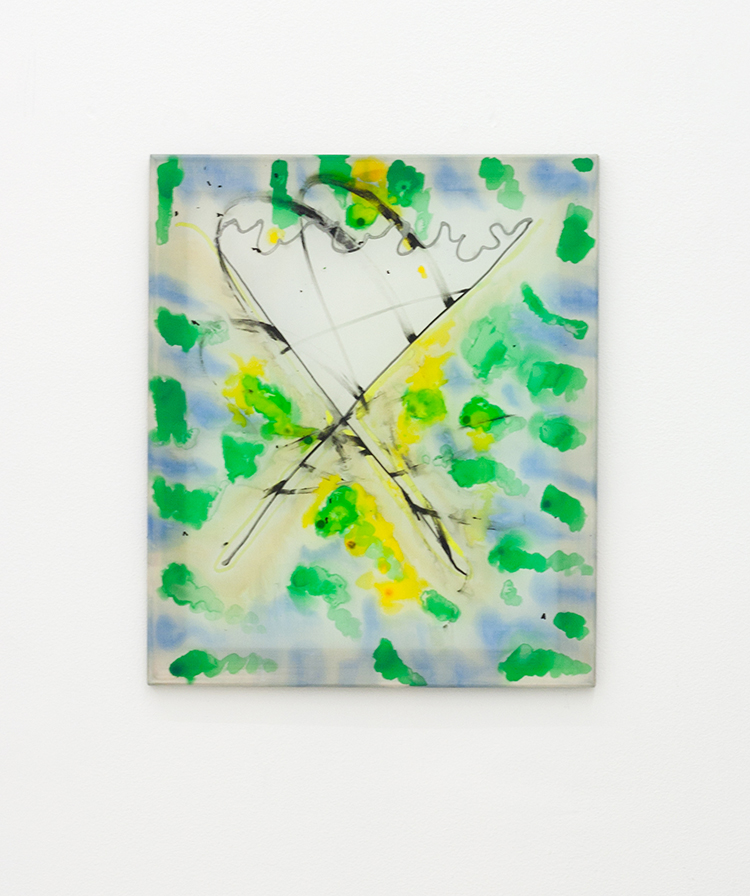 Untitled, 2012, mixed media on silk, 60 x 50 cm