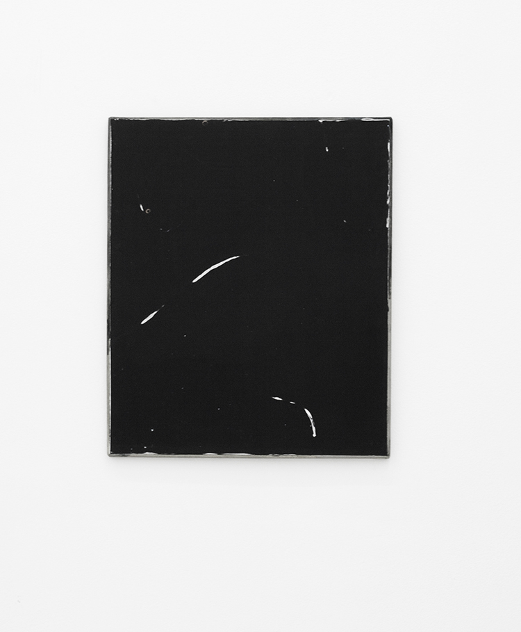 Untitled, 2012, gesso, glue, pigment, and ink on canvas, 60 x 50 cm