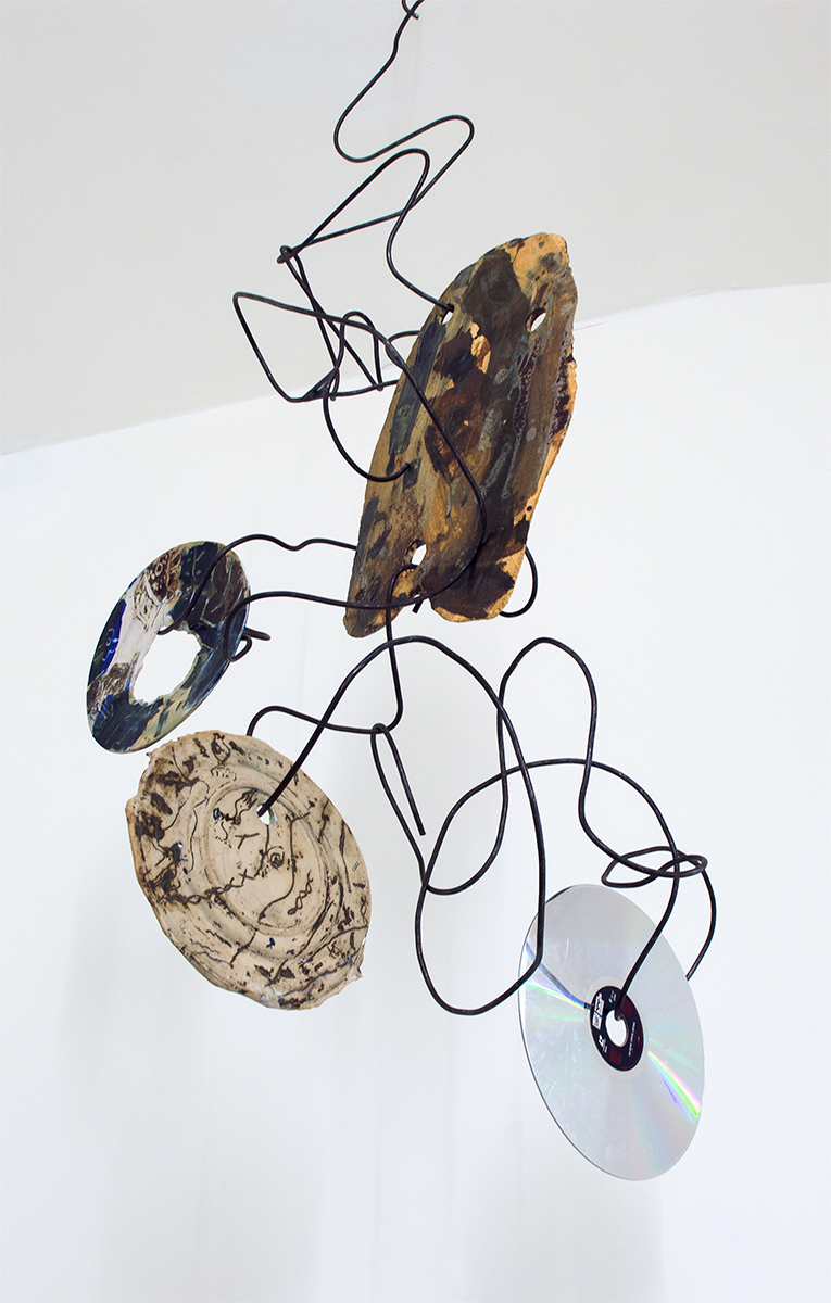Untitled Natsuko Ochino 2015 Steel, ceramics and laserdisc