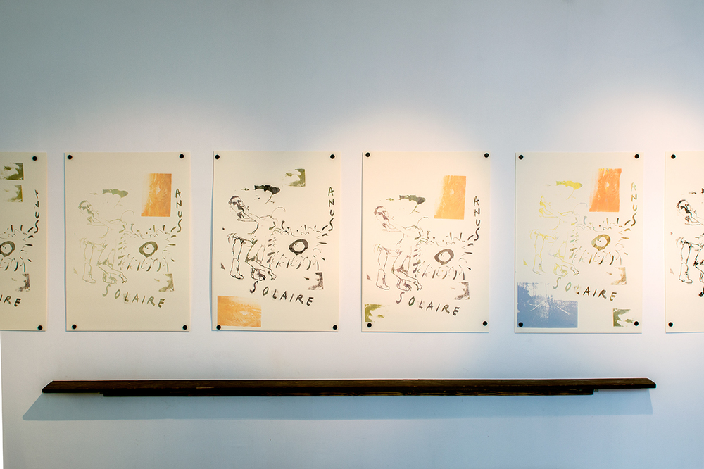 Untitled Natsuko Uchino, Magni Borgehed and Matthew Lutz-Kinoy Silk screen on paper 100x70 cm