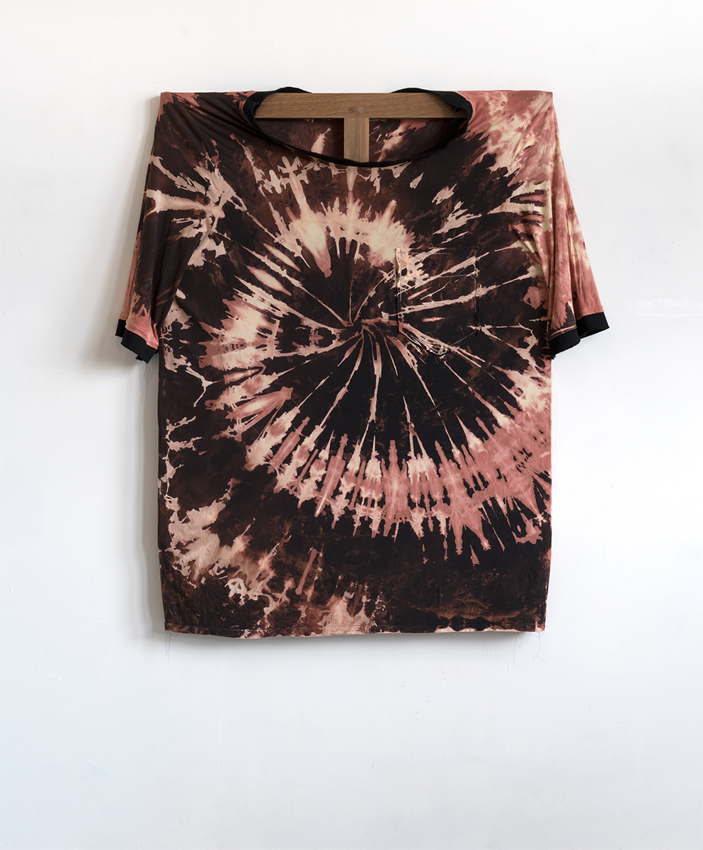 Bleach Tie Dye, 2015 142,2 x 121,9 cm Cotton on Walnut Frame
