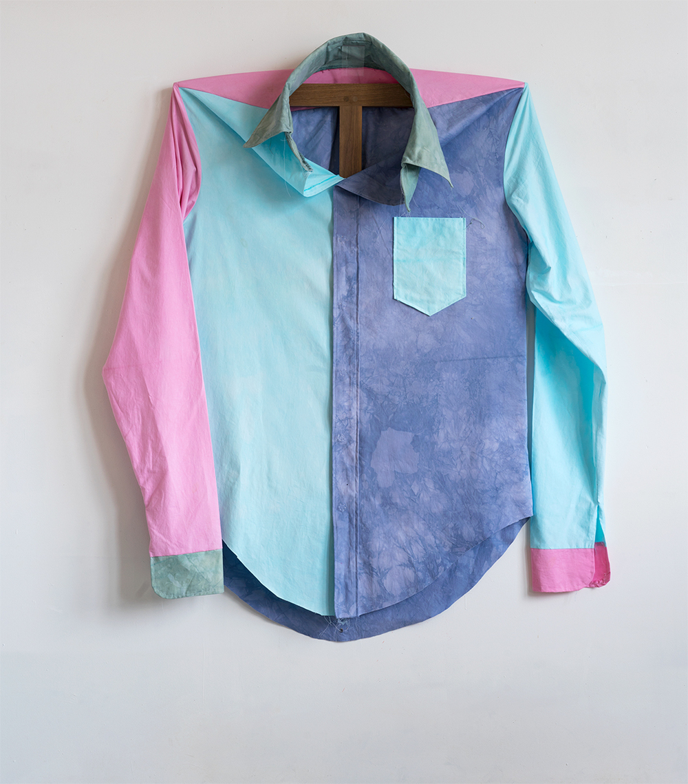 Color Block Shirt, 2015 157,5 x 139,7 x 31 cm Cotton on Walnut Frame