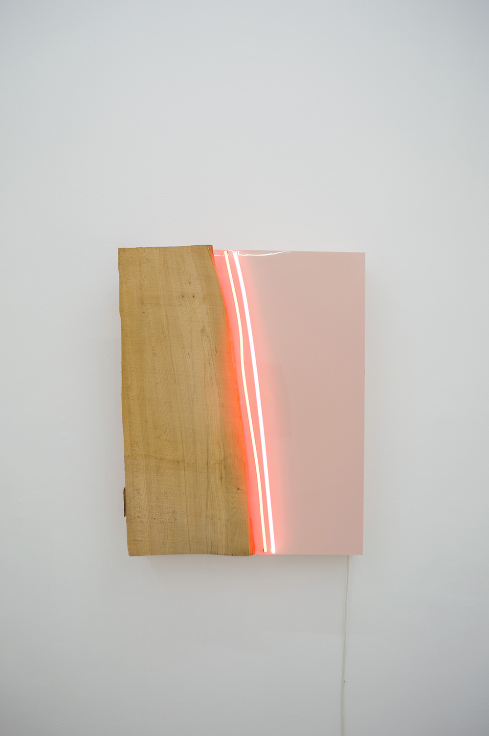 Untitled 1978 100 x 80 x 18 cm Neon light, acrylic, and wood