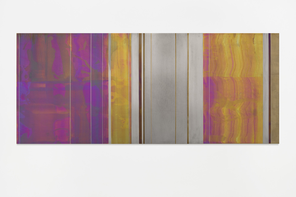 Untitled, 2016, 30 x 70 cm Anodized titanium