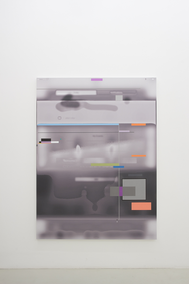 Jet pac III, 2016   184 x 137 x 3 cm   Acrylic over digital print on canvas