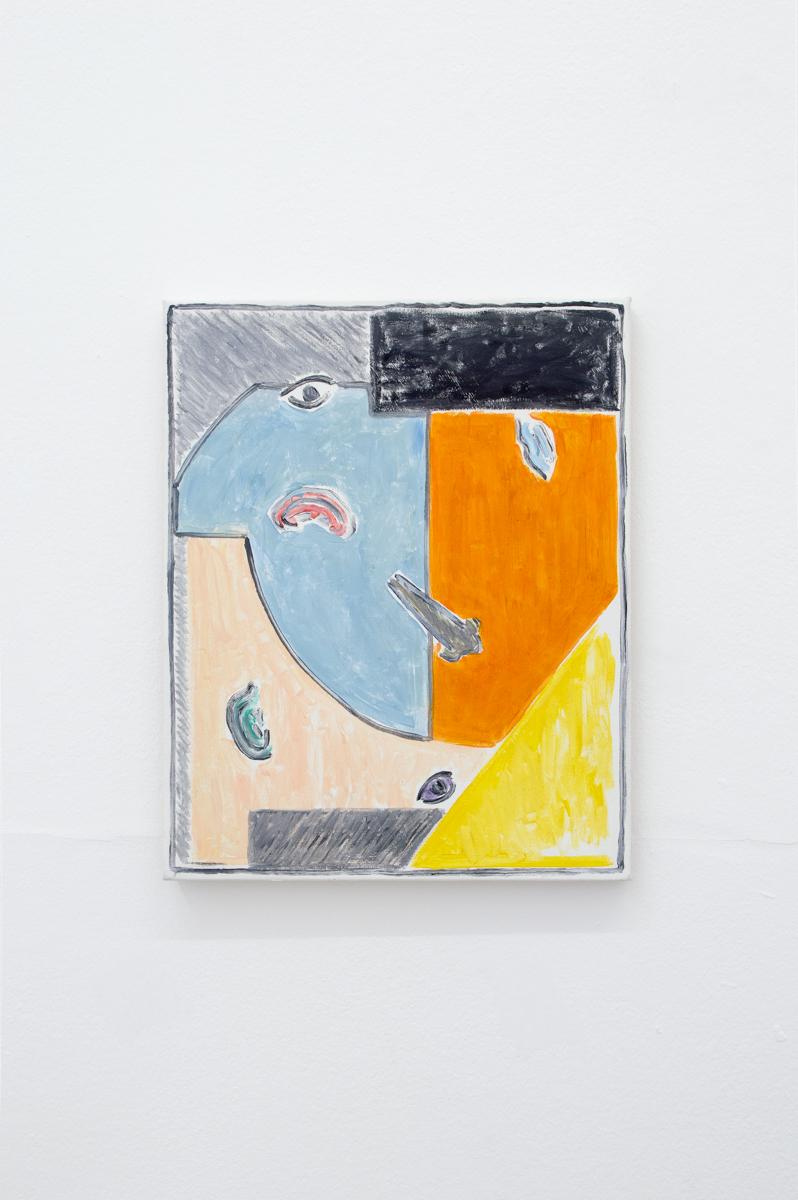 Blues III 2017 41 x 33 cm Oil and acrylic on canvas