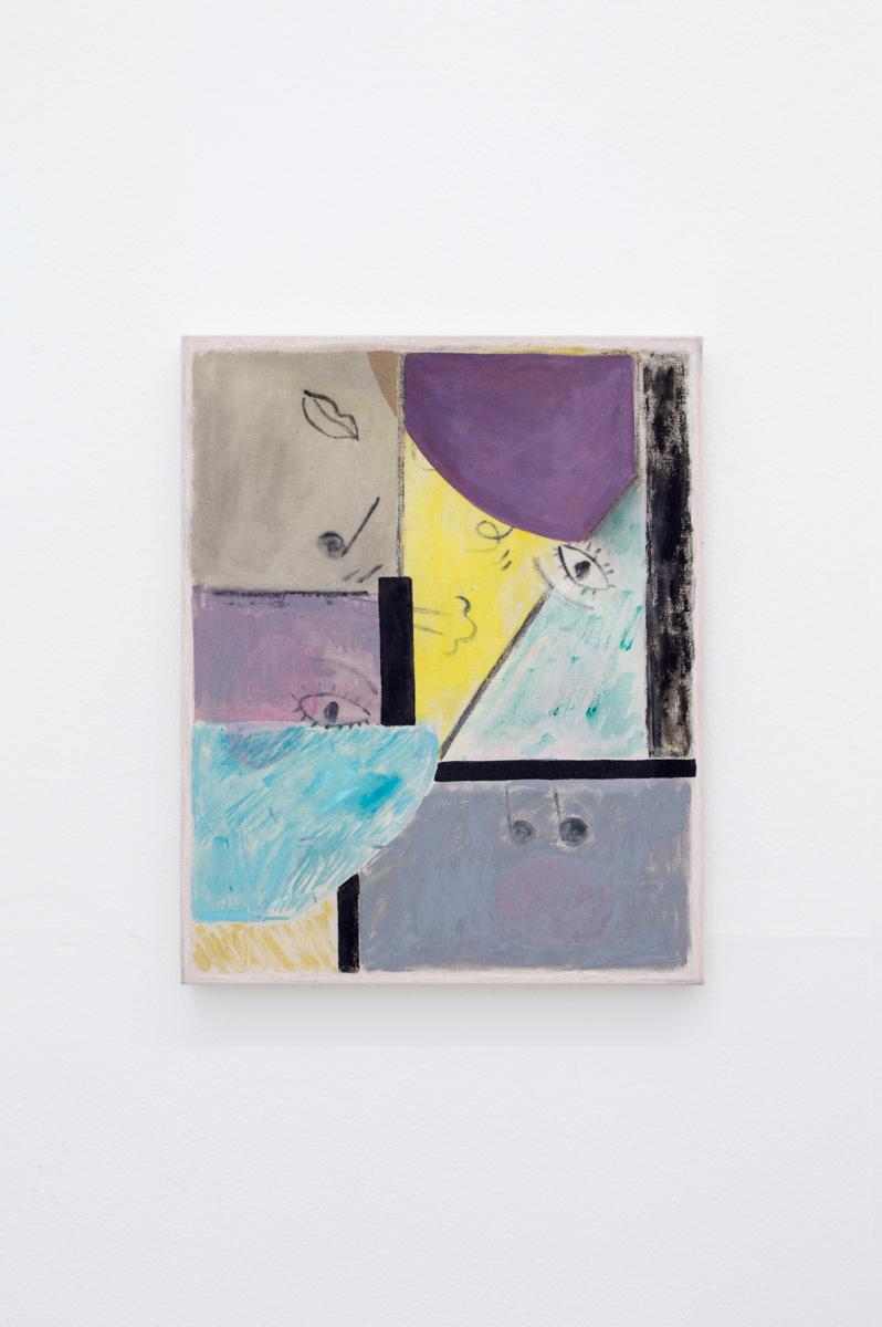 Blues I 2017 41 x 33 cm Oil and acrylic on canvas