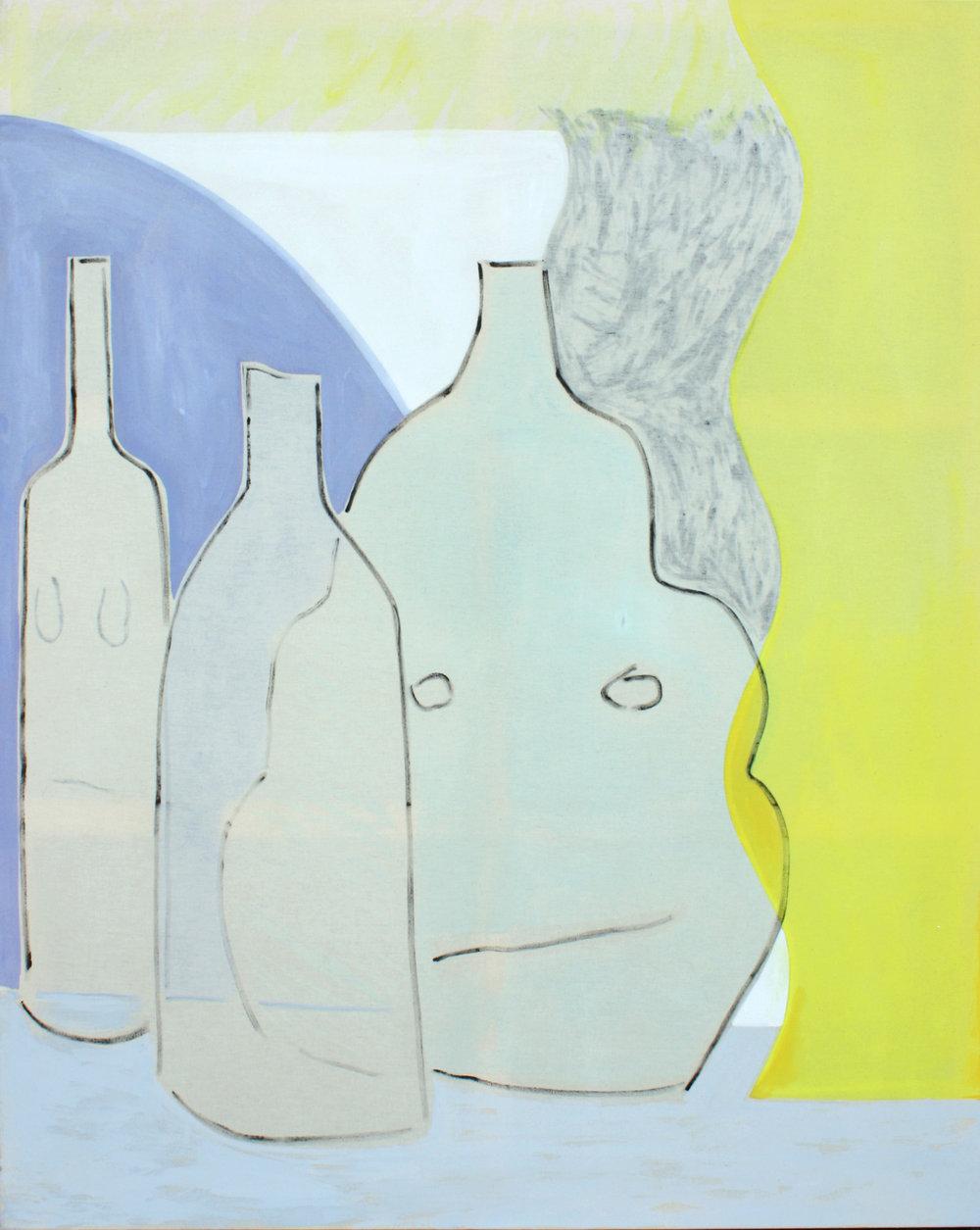 Vague, oil and acrylic on canvas, 150 x 120 cm