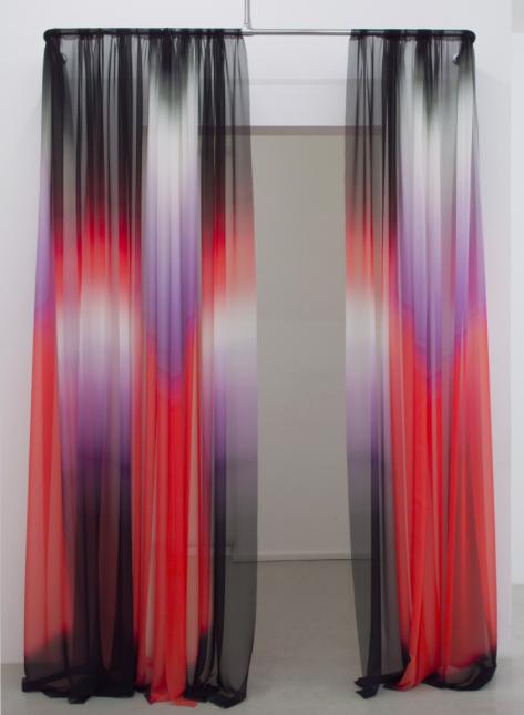 Printed silk, steel. Justin Morin.