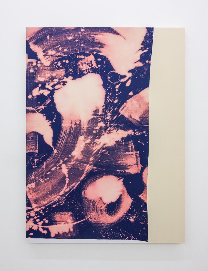 Ordinary Drink,  2018 150 x 120 cm Bleach on sewn cotton