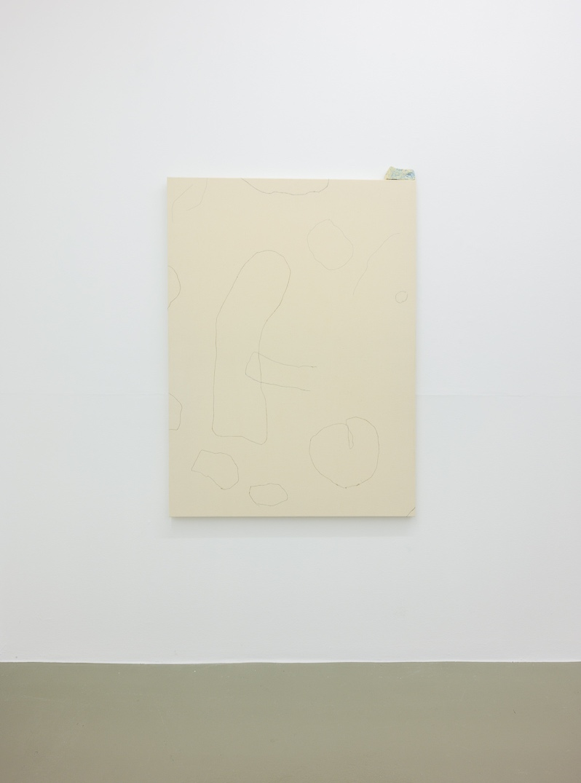 Daydream,  2018 150 x 120 cm Stitches on canvas, soap