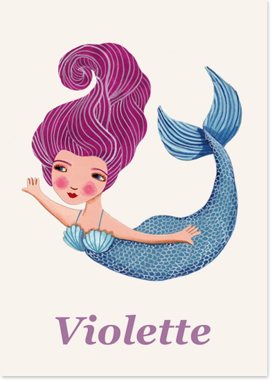 Mermaid Violette, first appeared in a flock of colourful mermaid friends but nows makes her solo debut, and she deserves it with all the fans she has.