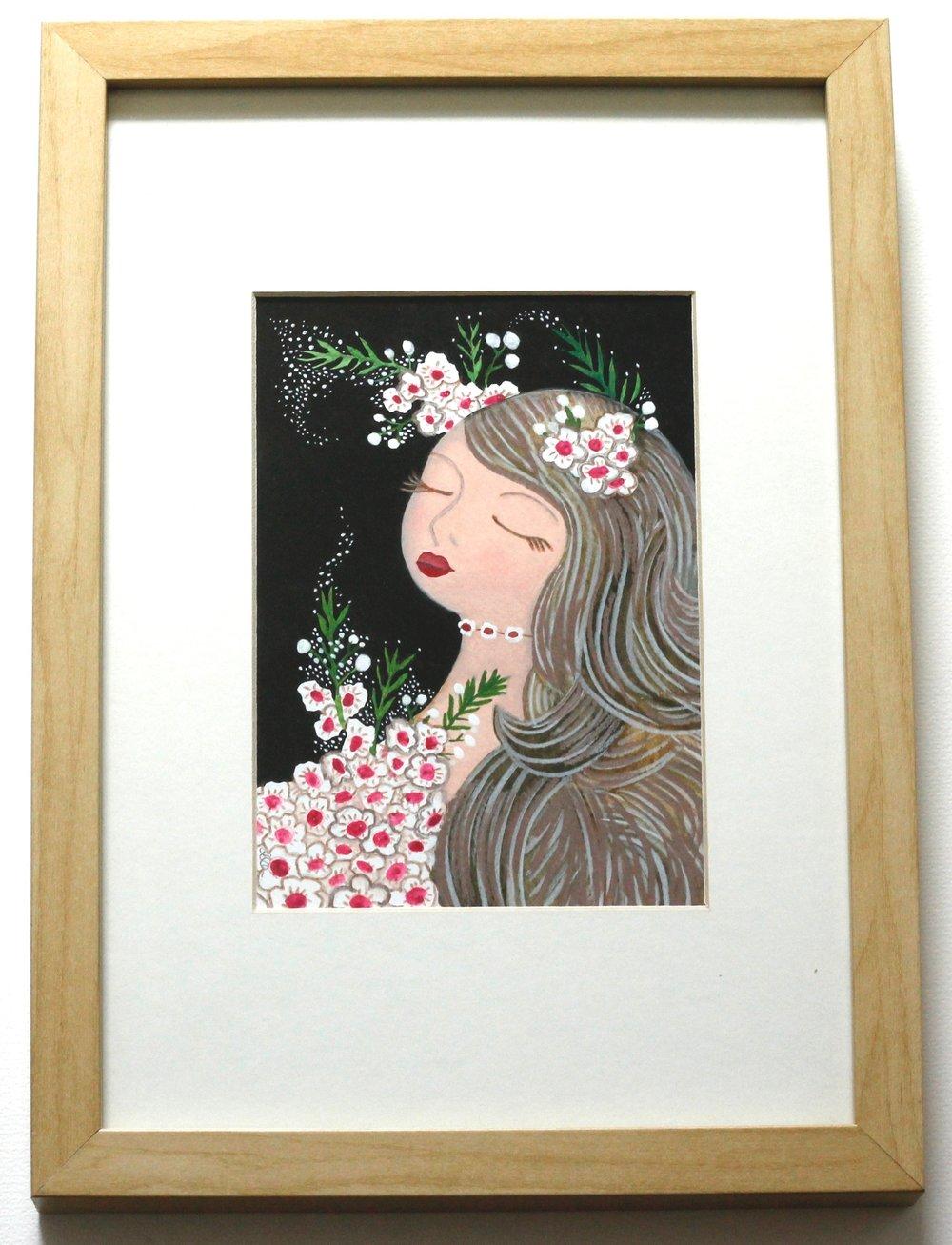 Flower Dream - 12x17cm gouache and pencil on paper €60