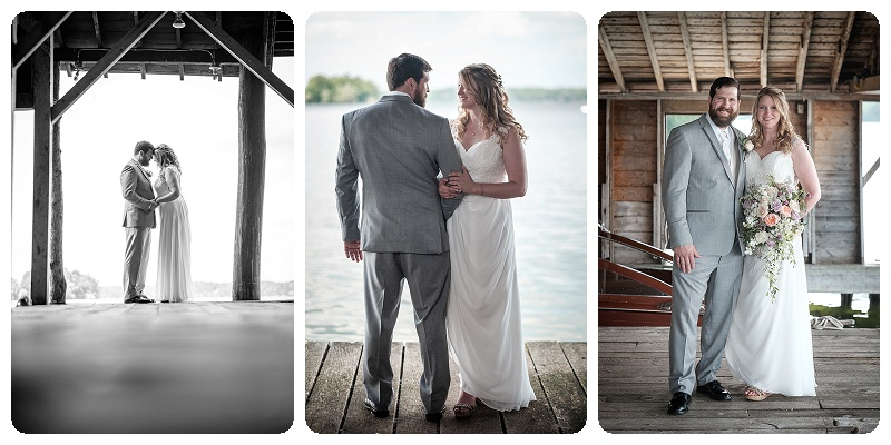 Stout's Island Lodge Wedding - Boat house portraits