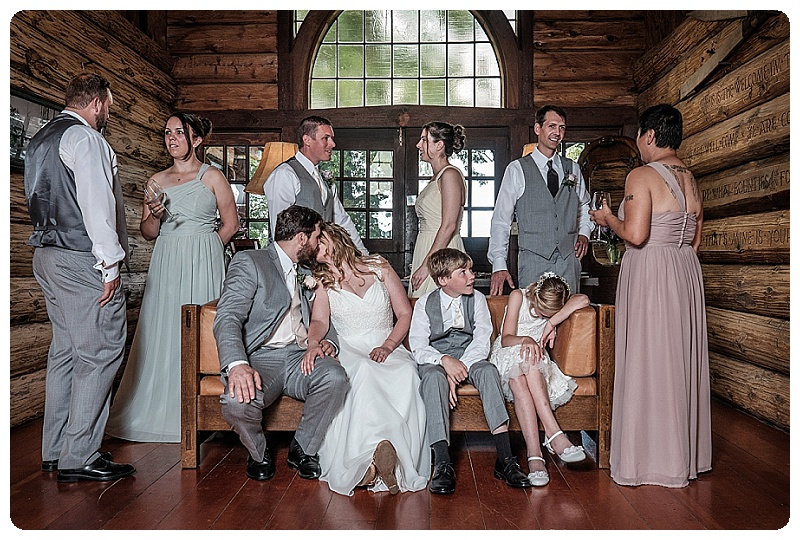 Stout's Island Lodge Wedding - bridal party
