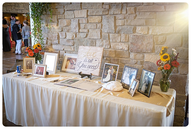 Nicole and Damian included family wedding photos on the table in the entry way. It was a great slice of history!