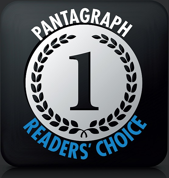 """Voted #1 by Pantagraph readers, Again!"" -2015"