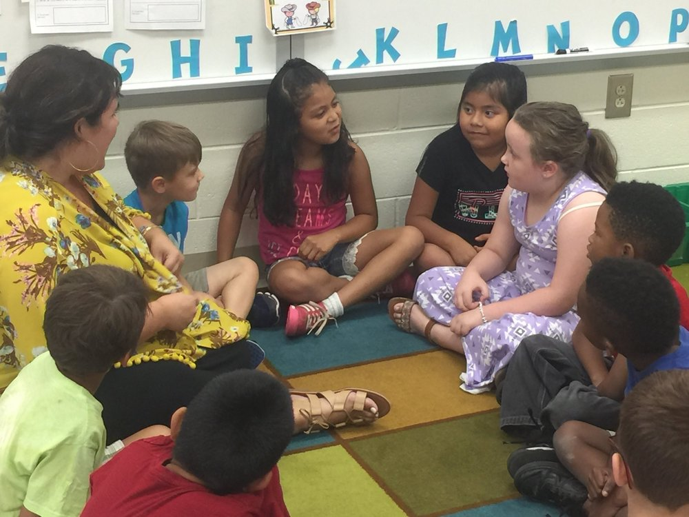A variety of group and individual activities encouraged reading throughout summer programs
