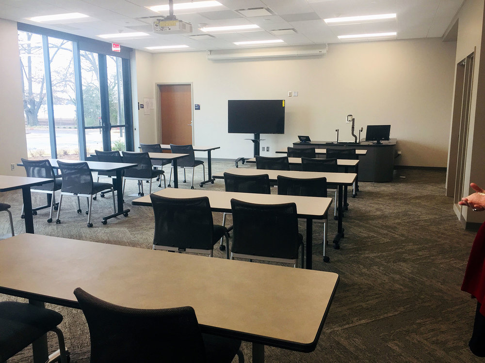 A classroom is ready that USC Upstate Child and Family Development Studies students will use.