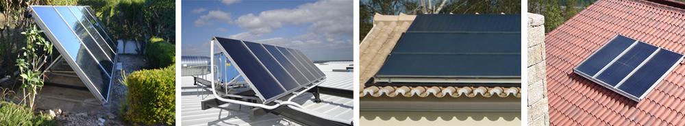 Aplicação em superfície plana e em telhados inclinados