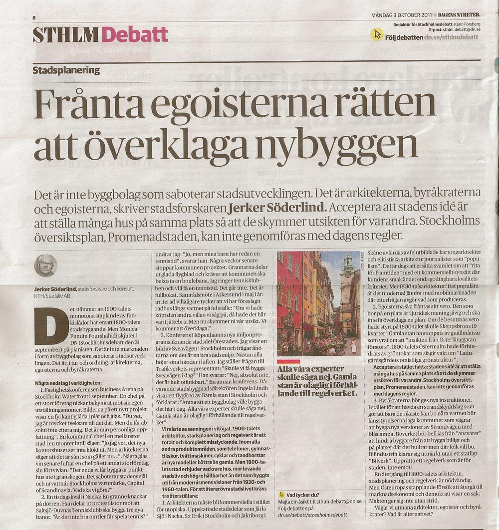 Artikel 9 Frånta egoisterna rätten att överklaga nybyggen, DN, 2011.jpg