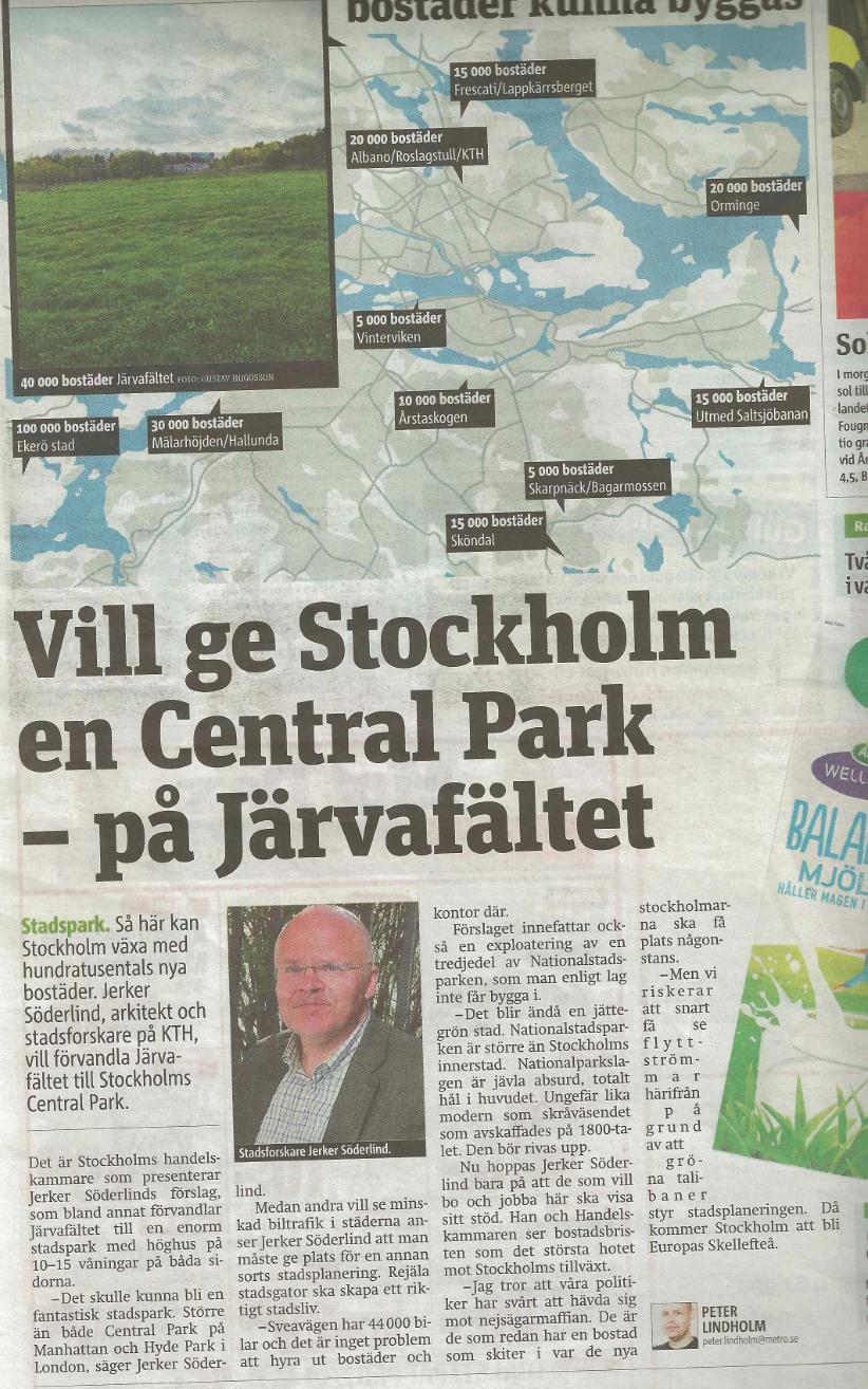 Artikel 4 Vill ge Stockholm en Central Park – på Järvafältet, Metro, 2012.png