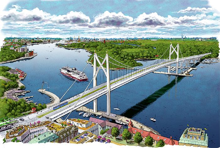 Österbron från Nacka mot Djurgården