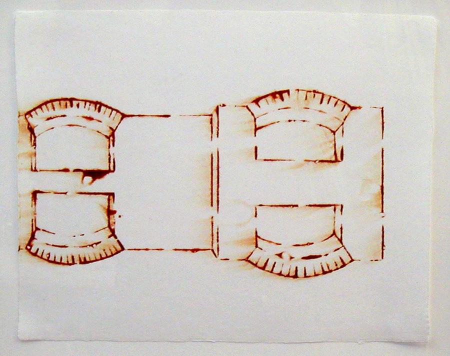 "Arch Window Stencil #1 2005 11"" x 14"""