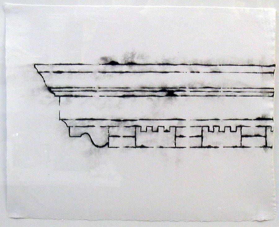 """Crown Cornice Stencil #1 2005 11"""" x 14"""""""