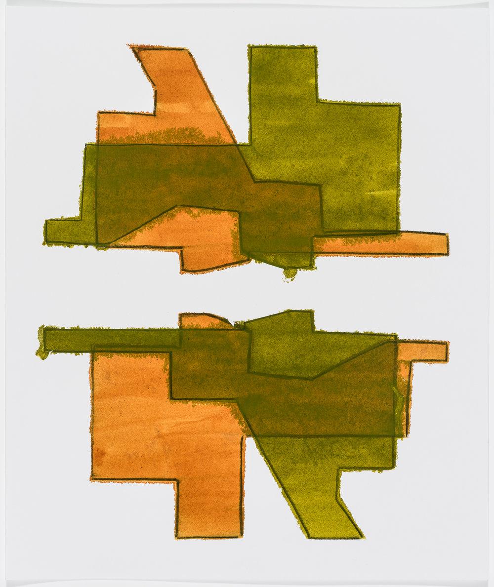 "Nolli Map #10, 13"" x 11"", 2016"