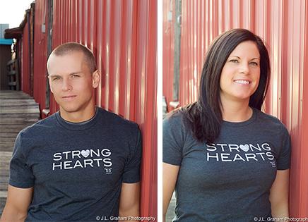Strong Hearts t-shirts.