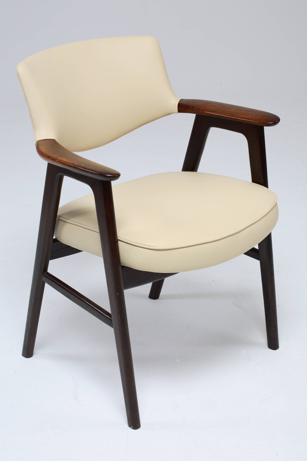 E Kierkegaard 1955 Armchair with Rosewood Armrests   • made 1955-69     •