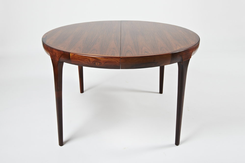 I K Larsen 1964 Dining Table with 2 Extension Leaves • made 1964-69 •