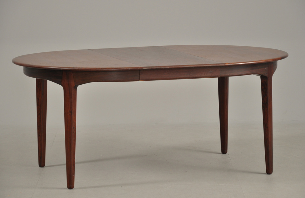 H Kjaernulf 1958 Dining Table with 3 Extension Leaves • made 1958-69 •