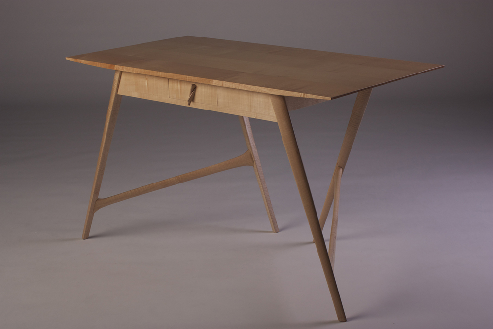 Stealth Desk in Solid Oak