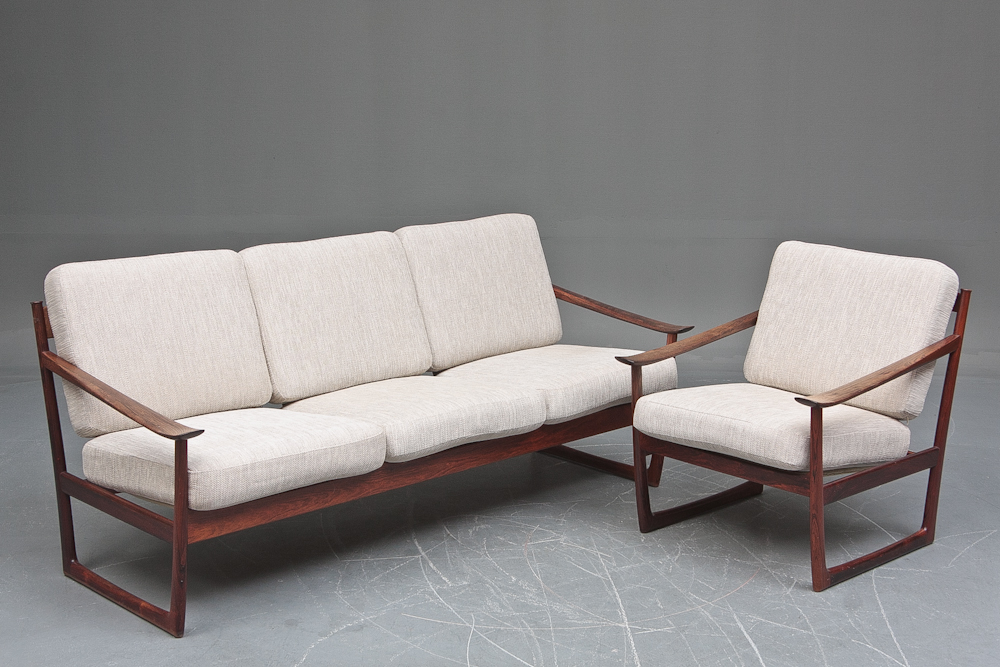 Hvidt & Molgaard Sofa and Chair • made 1960-69 •