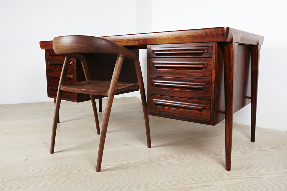 Vintage Rosewood Desk • made 1960-69 •