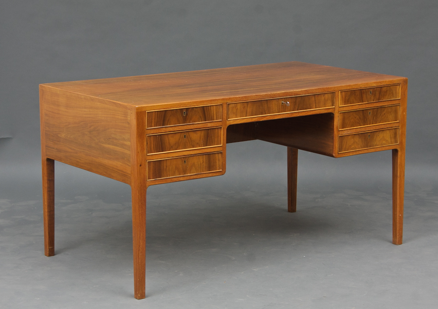 Vintage 1960s Walnut Desk • made 1960-69 •