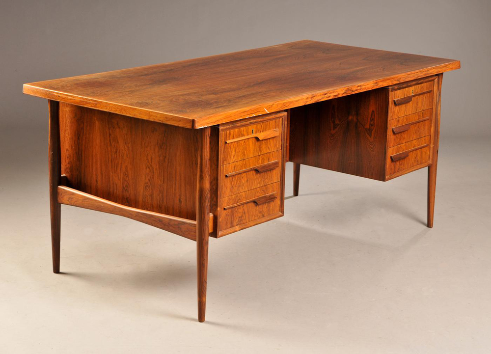 Vintage 1960s Rosewood Desk • made 1960-69 •