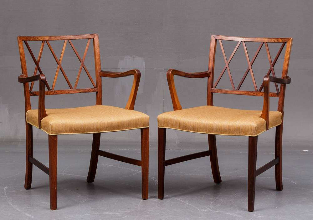 Ole Wanscher Armchairs (pair)   • made 1950-60s   •
