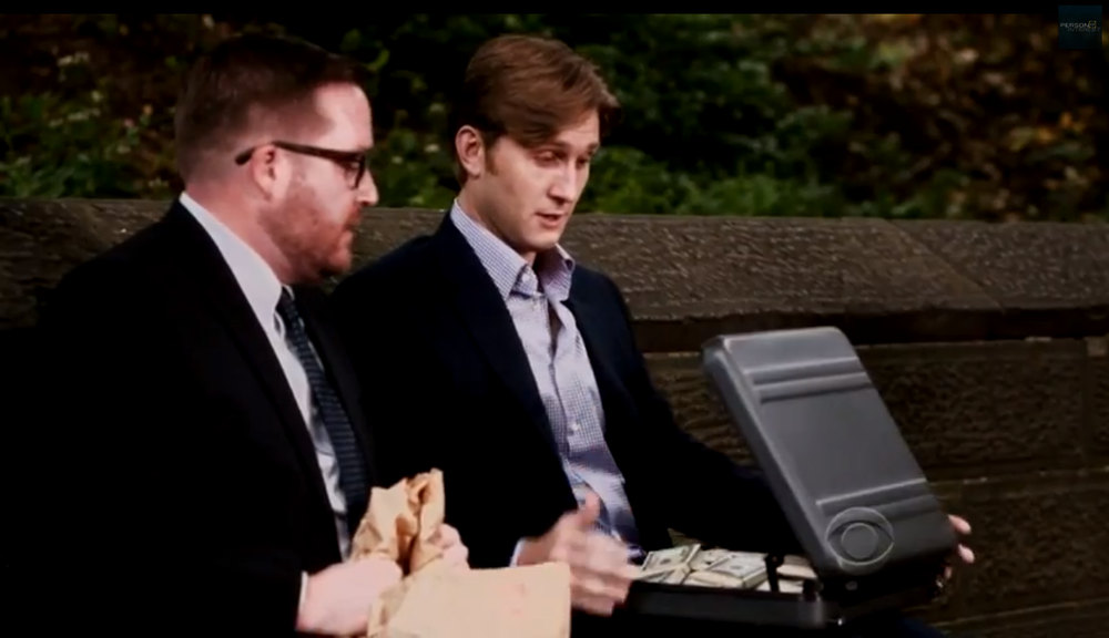 Michael Cyril Creighton & Aaron Staton in episode 307 of Person of Interest.