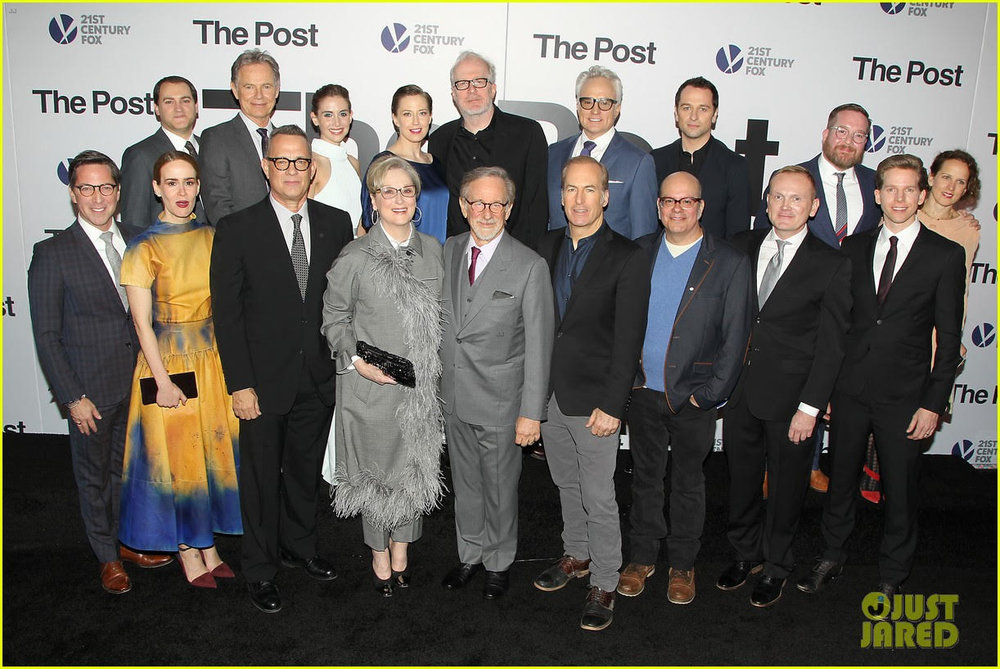 With the cast at the DC Premiere of THE POST