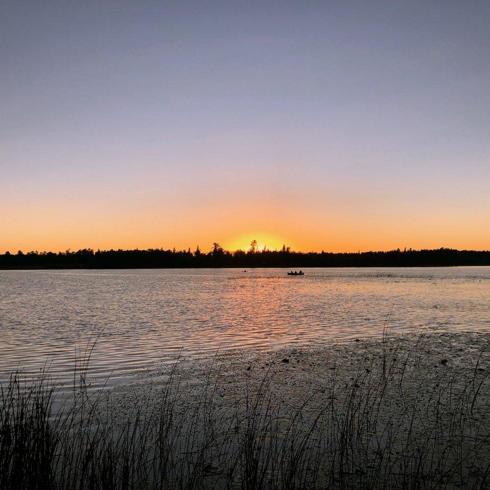 Sunset on Lake Itasca