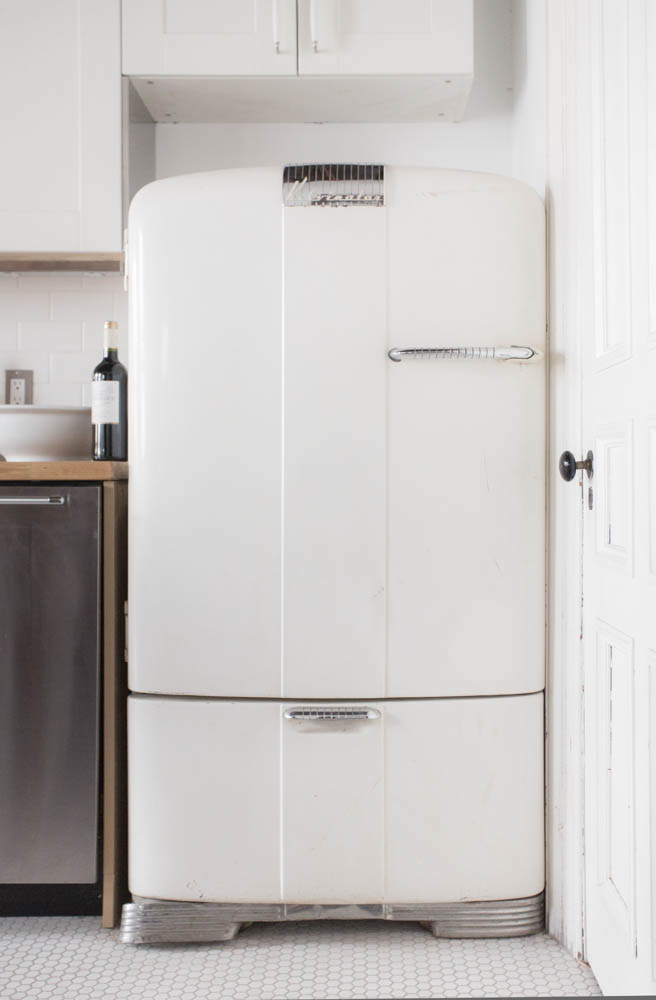 The Bowler features a vintage Kelvinator refrigerator.