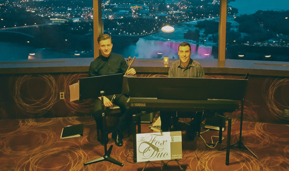 The Fox Duo Violin Piano Niagara Skylon Tower Corporate