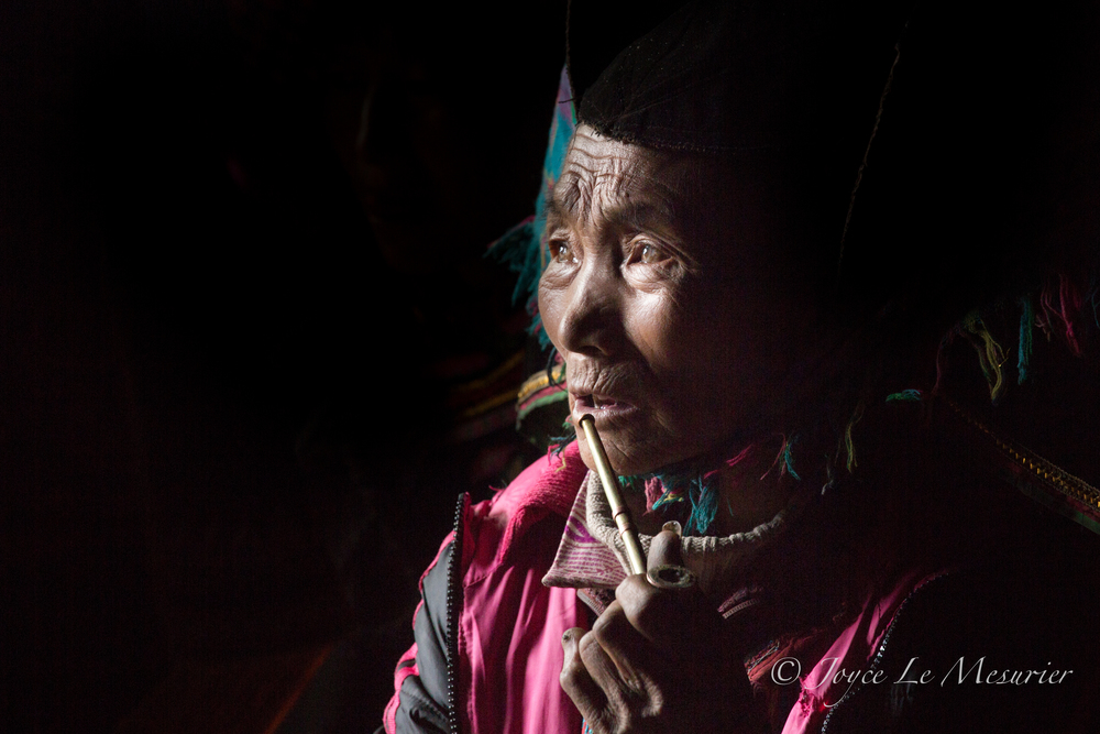 Yi Village elderly lady, Yunnan, China