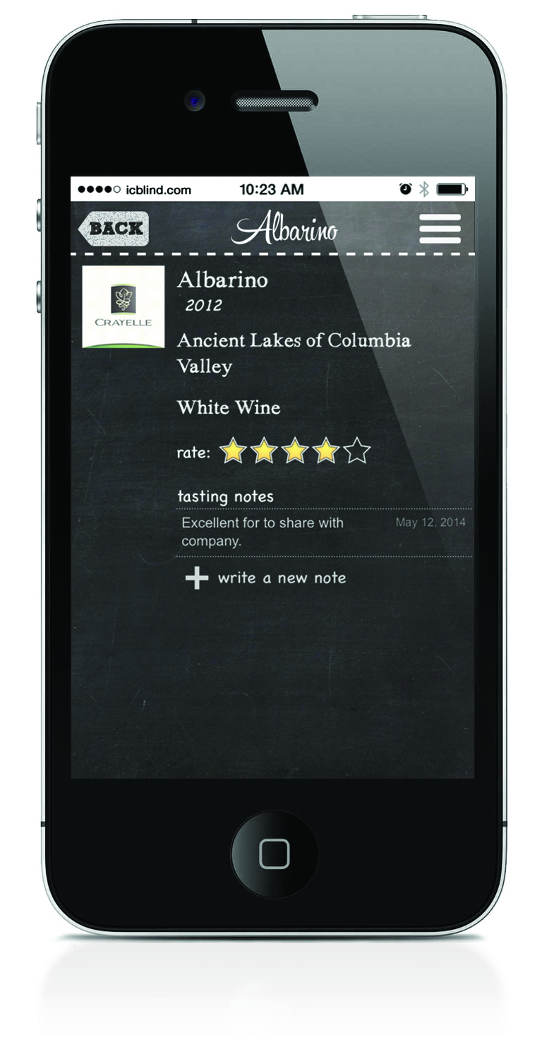 Now you can add personal tasting notes to varietals so you can remember your experience for future reference.